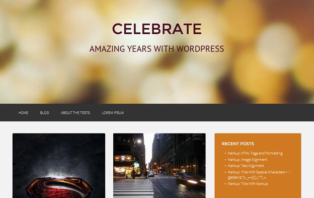 celebrate Celebrate   Free Responsive Masonry WordPress Theme
